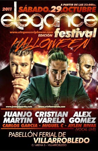 Flyer A5 Elegance Halloween Festival (Villarrobledo) Sab.29.Octubre.2011 CARA A