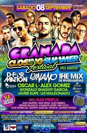 Flyer A5 Granada Closing Summer Festival - Sab.8.Sept (Aquaola - Granada) CARA B