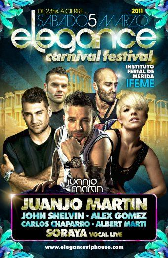 flyer Elegance VIPfestival (Merida) Sab.5.Marzo.2011 cara A