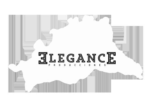 logo Elegance Producciones Blanco