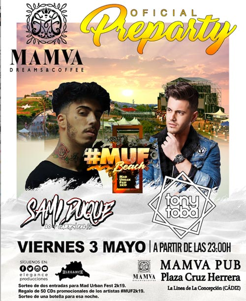 preparty MUF2019 3Mayo Linea Concepcion